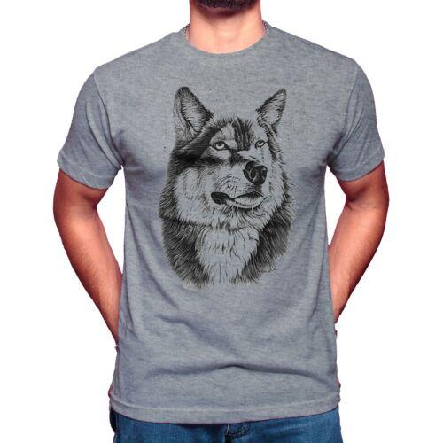 Men/'s O cou tête loup Summer T-Shirts Casual Tops Shirts Unisexe Wolf T-shirt Top