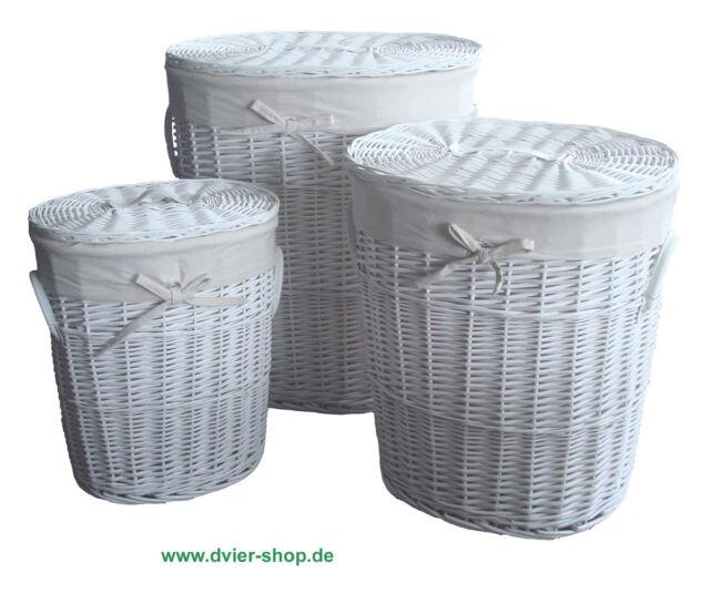 Wäschekorb vollweide weiß oval SWWK-08WOval