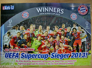 poster fc bayern m nchen uefa supercup sieger 2013 42 x 28 5 cm ebay. Black Bedroom Furniture Sets. Home Design Ideas