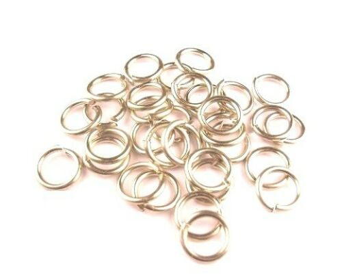 WIRE I//D 9MM  160 PCS 2 OZ SAW-CUT MADE IN USA NICKEL SILVER JUMP RING 16GA