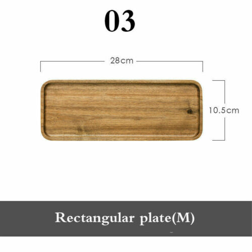 Acacia Wooden Tea Serving Tray Rectangle Household Food Storage Table Plate Home