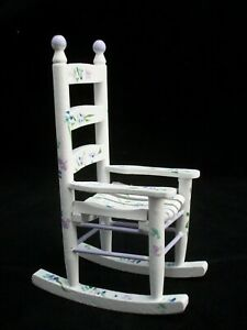 Unfinished #CLA08651 Dollhouse Miniatures 1:12 Scale Rocking Chair