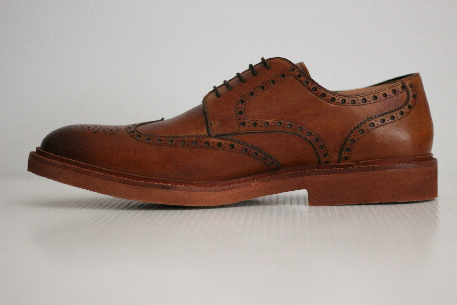 NEW Magnanni Neto Leather Lace Up Wingtip Brogue Derby - - - Cognac braun 13M (X71) b2e6ce