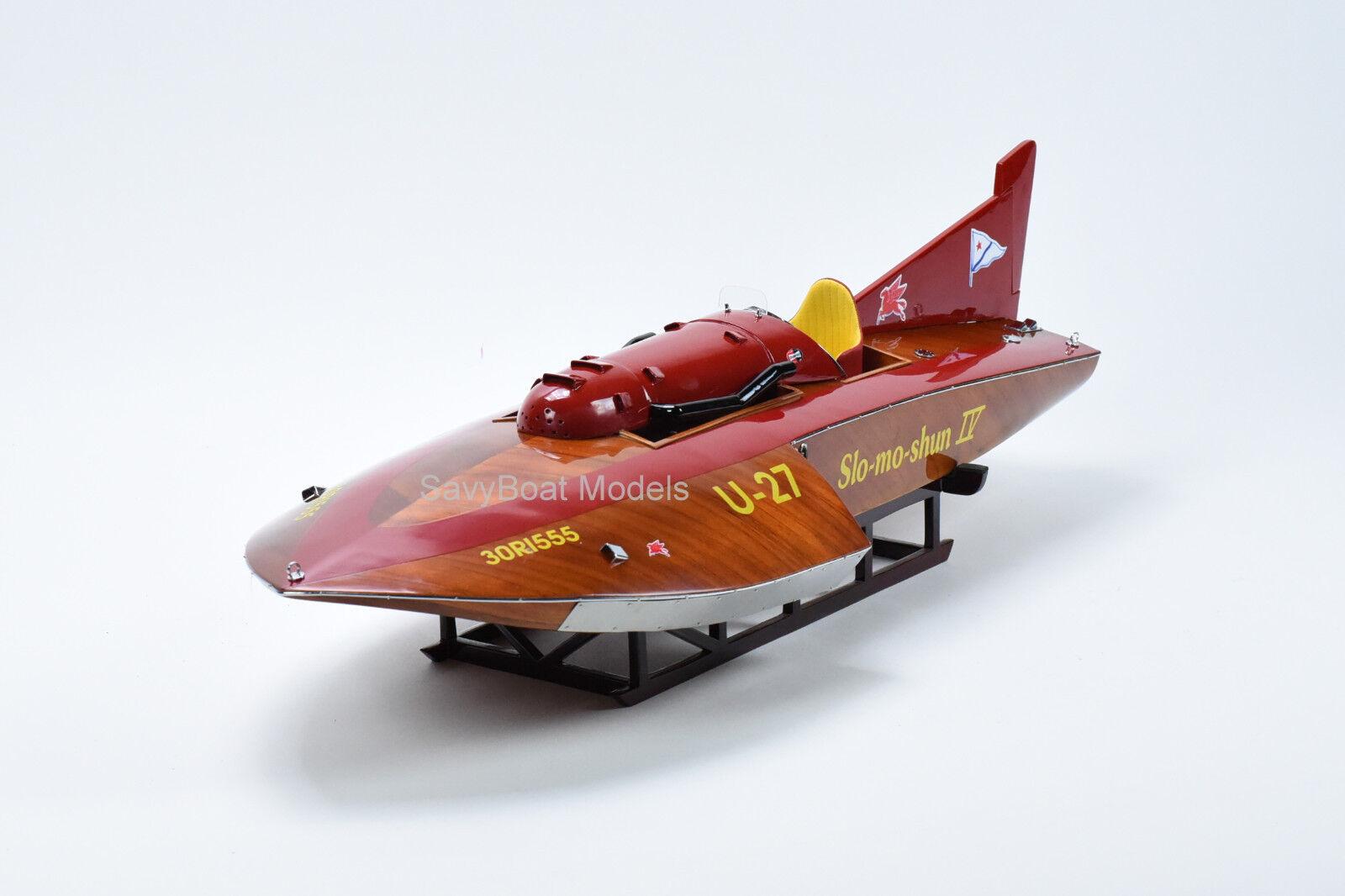 vendendo bene in tutto il mondo Hydroplane Slo-mo-shun IV U-27 U-27 U-27 Hefatto Wooden Race Boat modello 36  RC Ready  scegli il tuo preferito