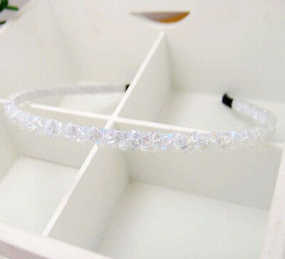 1pcs Women Girls Headband Crystal Beads Flower Hair clasp Hair band Accessories