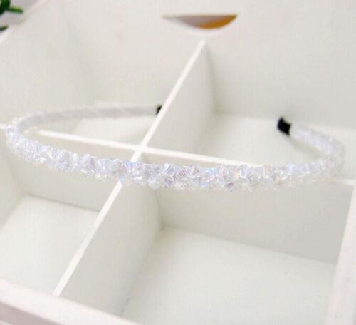 1pcs Femmes Filles Bandeau Perles En Cristal Fleur fermoir Serre-tête