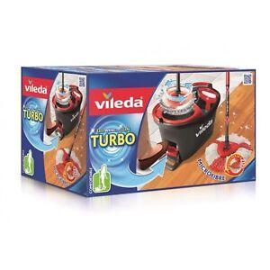 Wischmop-Vileda-Turbo-EasyWring-amp-Clean-Komplettset-Eimer-Bodenwischer