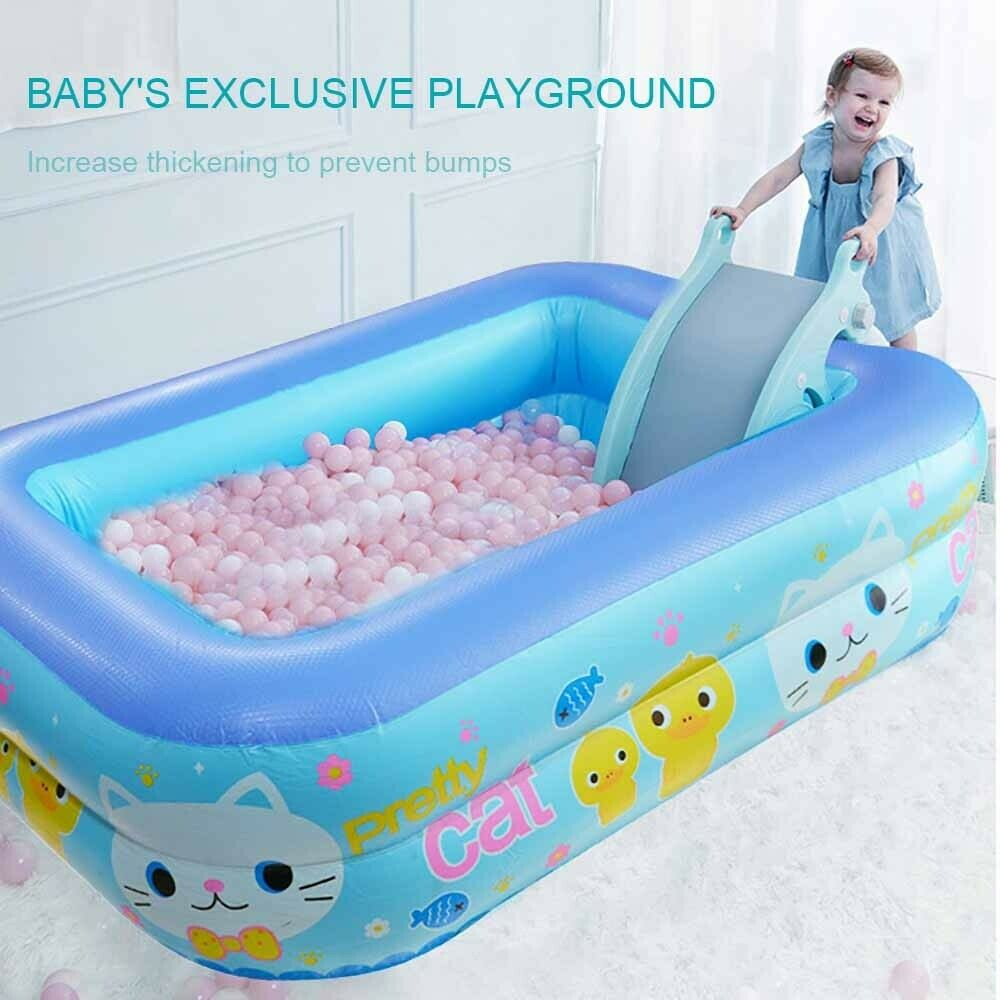 Inflatable Swimming Pool Baby Foldable Bathtub Adult Best Summer Water Play Fun
