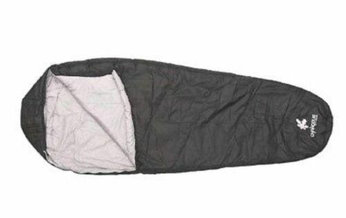 Neuf avec étiquettes-Kounga Sac de couchage Roraima 0-5 Noir//Gris Large-Camping-Festivals New