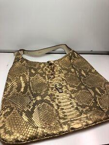 Python Jackie O Bag Snakeskin Leather