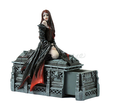 Await The Night (with Secret Box) by Anne Stokes Statue Sculpture *Gift Boxed