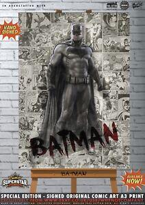 Batman-Ben-Affleck-Gotham-Justice-League-Comic-SUPERSTAR-A3-Signed-Print