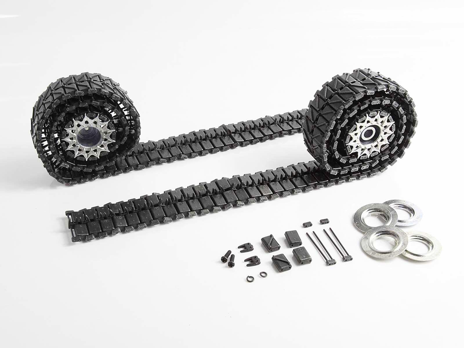 Mato MT002 1 16 Radio Control Tanque nos M26 Pershing pistas de metal ruedas dentadas las ruedas motrices