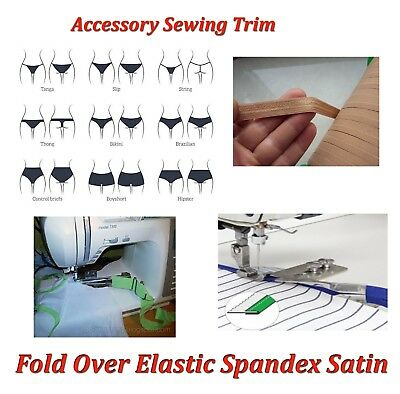 150 Fold Accessory Over Ties Spandex Elastic Trim mts Band Satin Sewing 14mm fq7rwxSf