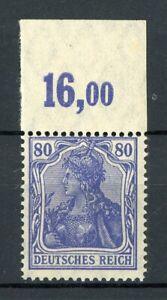 Deutsches-Reich-MiNr-149-b-II-Oberrand-postfrisch-MNH-gepr-Infla-Berlin-V652