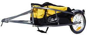 Brand-New-Skiiddii-Single-Wheel-Silver-Cargo-Bicycle-Bike-Trailer-FREE-BAG