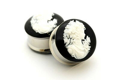 Pair of Cameo Resin Plugs gauges Choose Size new