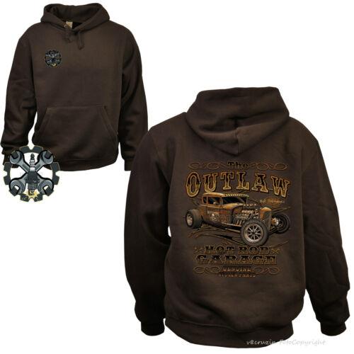 * Hoodie Rockabilly Auto Old School Hot Rod Kustom Garage Speed Shop *1247