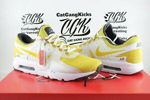 DS-Nike-Air-Max-Zero-0-QS-Sulfur-Yellow-White-AM0-Day-789695-100-Sz-11-5