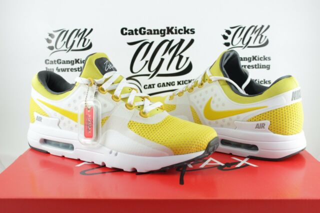 designer fashion e1b47 48bf9 DS Nike Air Max Zero 0 QS Sulfur Yellow White AM0 Day 789695 100 Sz 11.5
