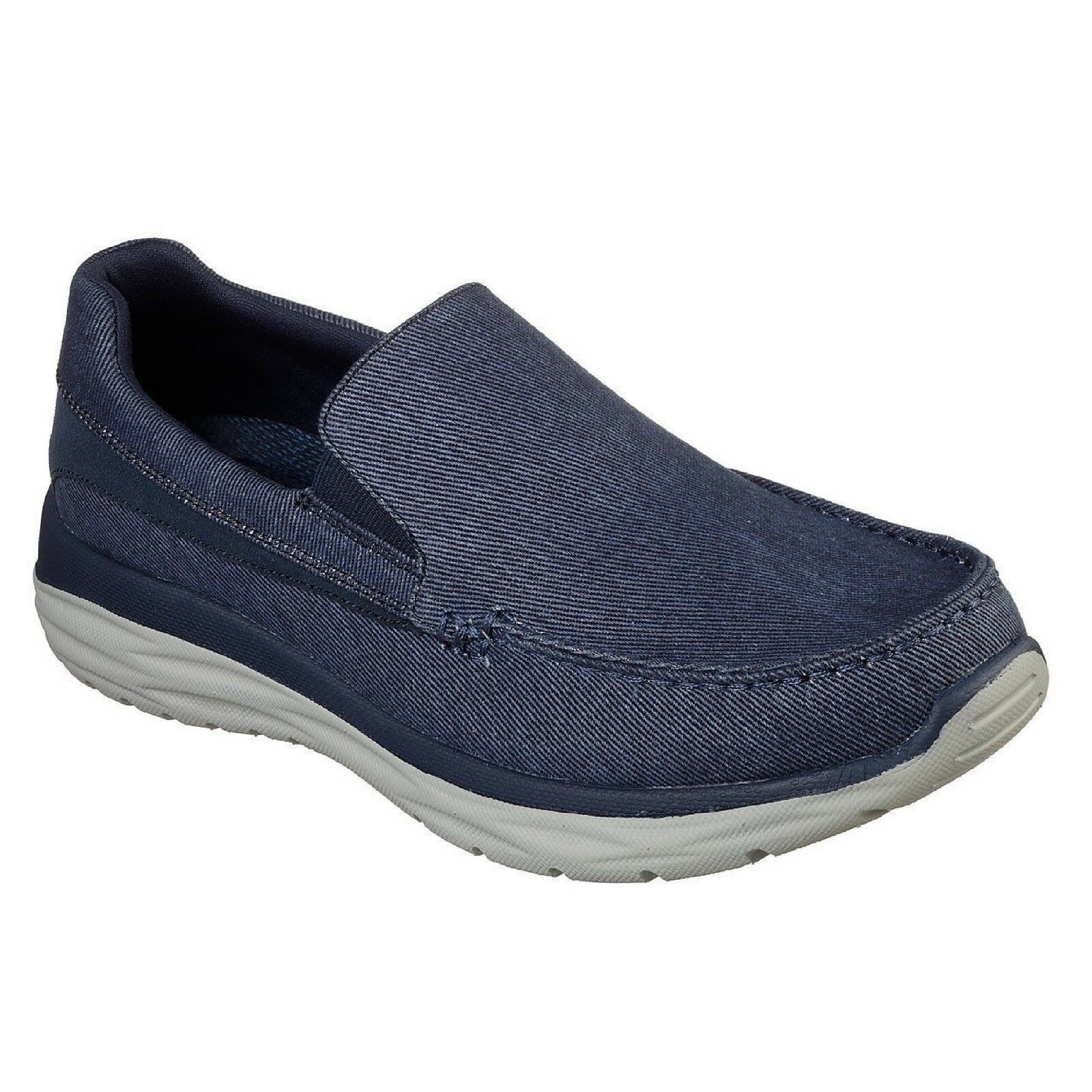 65605 blue Skechers, Men's Harsen-Alondro Loafer shoes