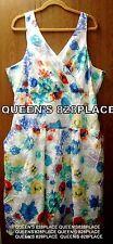 Jessica London Women's Plus Size 24 Sleeveless Floral Dress Sundress Cotton