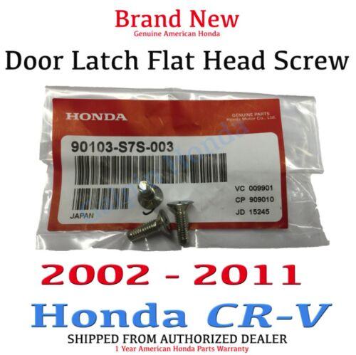 Genuine OEM Honda CR-V Door Latch Flat Head Screw 2002-2011 90103-S7S-003 x3