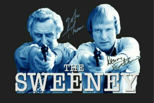 The Sweeney Regan and Carter poster cast Signed Autograph PRINT 6x4 Gift Present