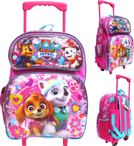"Paw Patrol 12/"" Toddler Rolling School Backpack Girl/'s Book Bag"