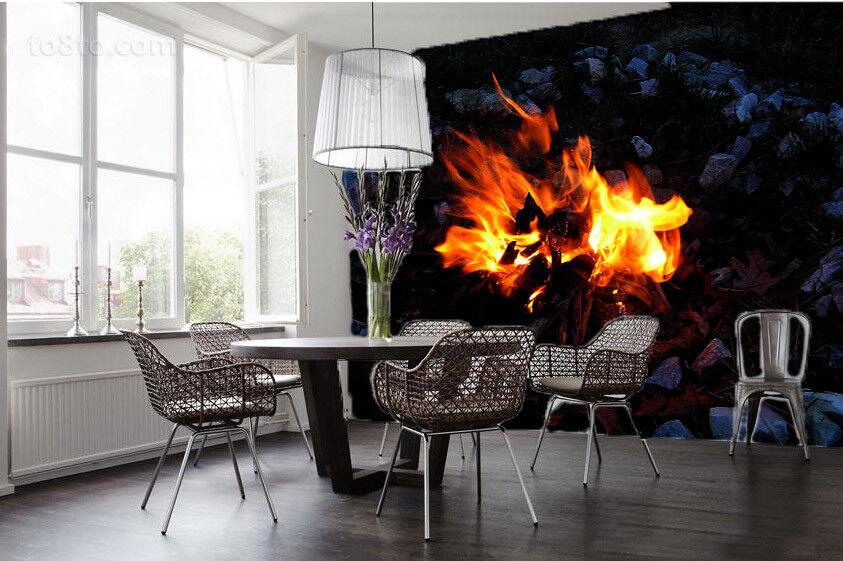 3D Flame rot 98 Wallpaper Mural Paper Wall Print Wallpaper Murals UK Lemon
