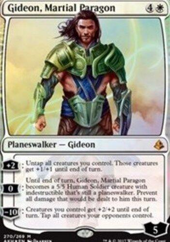 Foil Planeswalker Deck Exclusive Martial Paragon 1x Gideon Amonkhet x1