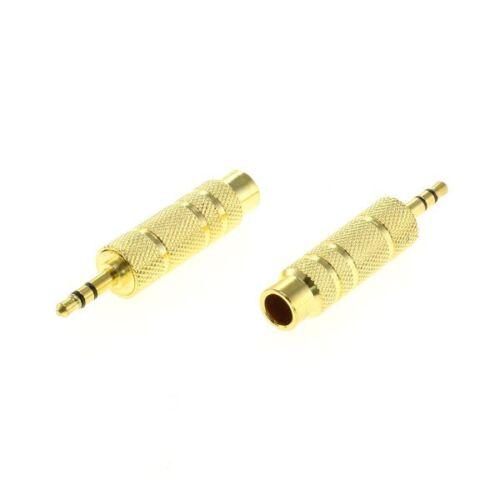 6,35mm auf 3,5mm Klinkenadapter Stereo Buchse auf Stecker vergoldet 2 Stück