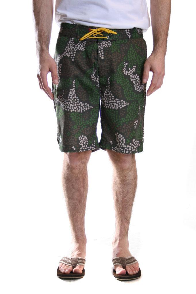 Victorinox Island Bermuda Board Swim Shorts in Green Sale 50% Off RRP