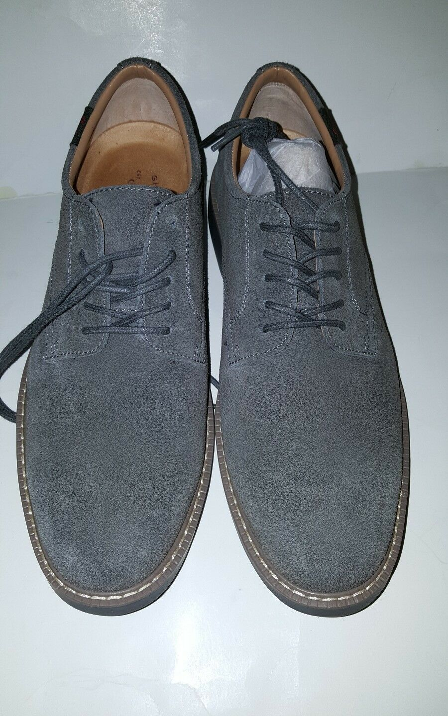 GH BASS PASADENA LEATHER/ MEN'S OXFORD SHOES; LEATHER/ PASADENA SUEDE/ GREY/00261915010 890a93