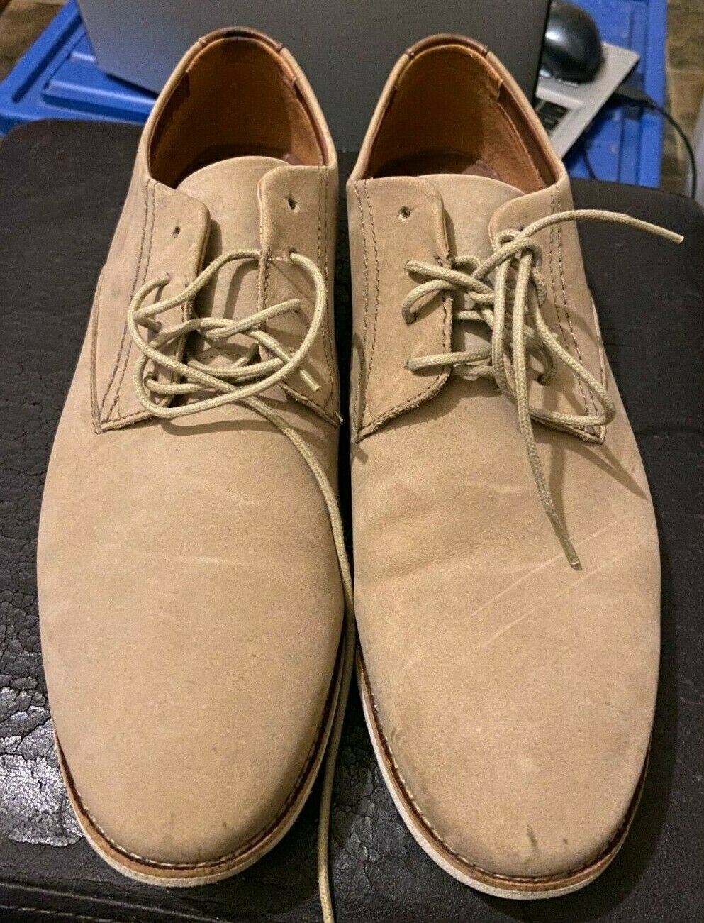 Clarks Mens Brown Suede Semi casual leather shoes super comfortable like new