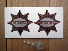 "SUZUKI Traditional British BSA Star Style STICKERS 3"" Classic Cafe Racer Custom"