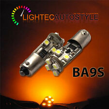 2x 8 SMD CANBUS LED AMBER YELLOW INDICATOR SIDE REPEATER 233 T4W BA9S BAYONET