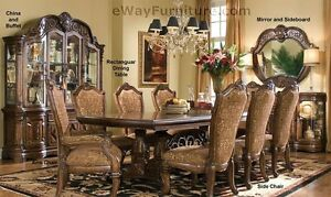 7 PC English Formal Dining Room Furniture Table Set | eBay