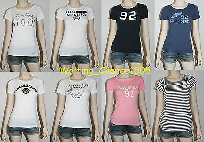 NWT Abercrombie & Fitch by Hollister Women Short Sleeve Shirt T-Shirt