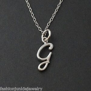 Tiny initial letter g necklace 925 sterling silver name g letter image is loading tiny initial letter g necklace 925 sterling silver aloadofball Image collections