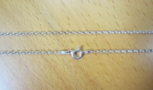 """20/"""" 2.1 mm Solide Argent Sterling 925 Rolo Chaîne Collier Made in Italy Bijoux"""
