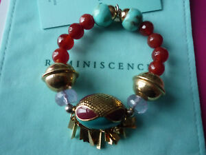 "Fashion Jewelry Splendide Bracelet ""reminiscence"" Karma/amethystes/pochon/certificat"