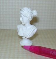 Miniature White Resin Bust Of Diana: Dollhouse 1/12 Scale Miniatures 1/12