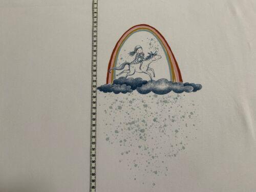 Panel Jersey Lillestoff Einhorn Regenbogen weiß