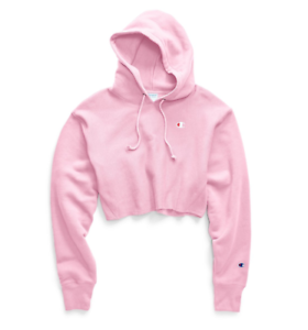 Champion Pink Candy Reverse Weave Cropped Cut Off Hoodie