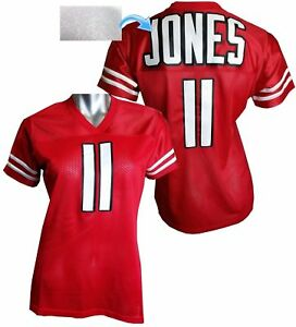 separation shoes 8c469 b7ca7 Details about Custom Womens Blinged Football RED Jersey,Julio Jones