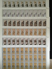 China PRC 1994-14 SC#2519-2524 Selected Painting of Fu Baoshi Full Sheets, MNH