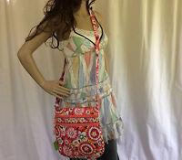 NWT Vera Bradley Pixie Blooms Triple Zip Hipster Crossbody Shoulder Summer Bag