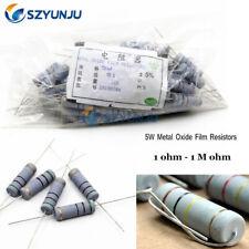 5w Kit 30 Value 5 Watt Metal Oxide Film Resistors 1 Ohm 1m Ohm 5 Assorted Set