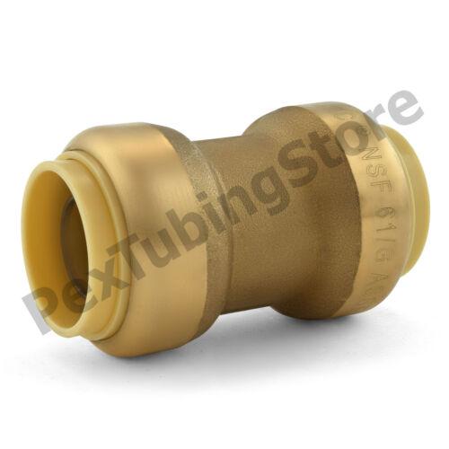"3//4/"" Sharkbite Style 10 Push-Fit Lead-Free Brass Couplings Fittings"